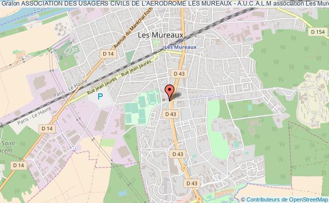 plan association Association Des Usagers Civils De L'aerodrome Les Mureaux - A.u.c.a.l.m Les   Mureaux