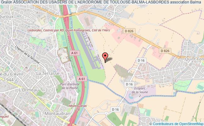 plan association Association Des Usagers De L'aerodrome De Toulouse-balma-lasbordes Balma