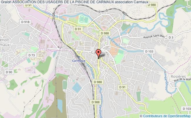plan association Association Des Usagers De La Piscine De Carmaux