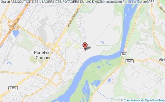 plan association Association Des Usagers Des Potagers Du Lac D'auzun