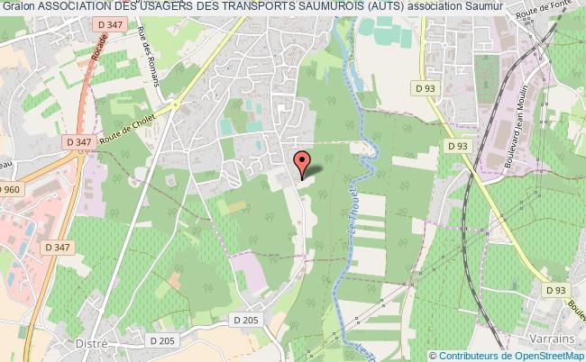 plan association Association Des Usagers Des Transports Saumurois (auts)