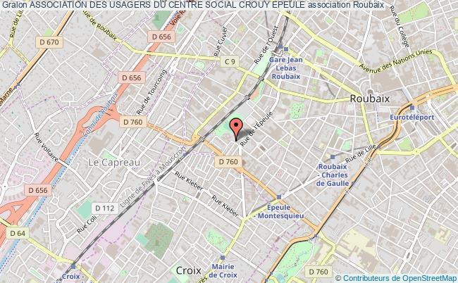 plan association Association Des Usagers Du Centre Social Crouy Epeule Roubaix