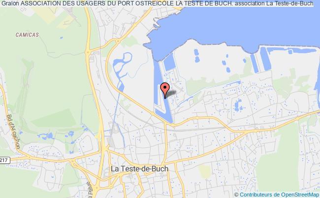 plan association Association Des Usagers Du Port Ostreicole La Teste De Buch. La Teste-de-Buch