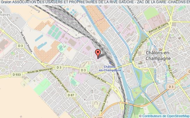 plan association Association Des Usagers Et Proprietaires De La Rive Gauche - Zac De La Gare -chalons En Champagne