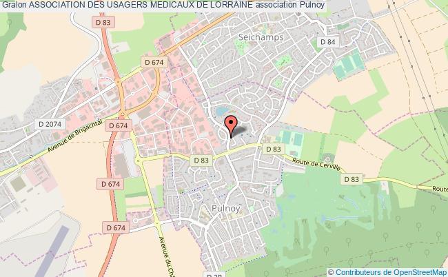 plan association Association Des Usagers Medicaux De Lorraine Pulnoy