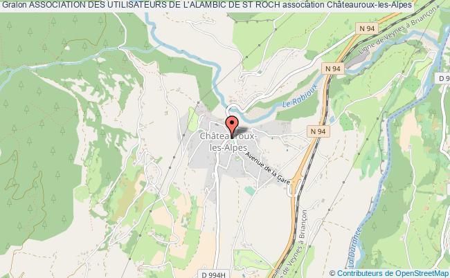 plan association Association Des Utilisateurs De L'alambic De St Roch