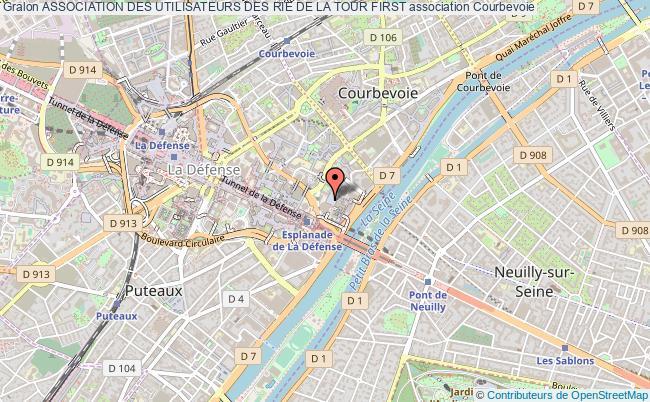 plan association Association Des Utilisateurs Des Rie De La Tour First Courbevoie