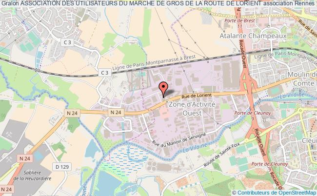 plan association Association Des Utilisateurs Du Marche De Gros De La Route De Lorient Rennes