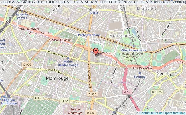 plan association Association Des Utilisateurs Du Restaurant Inter Entreprise Le Palatis Montrouge