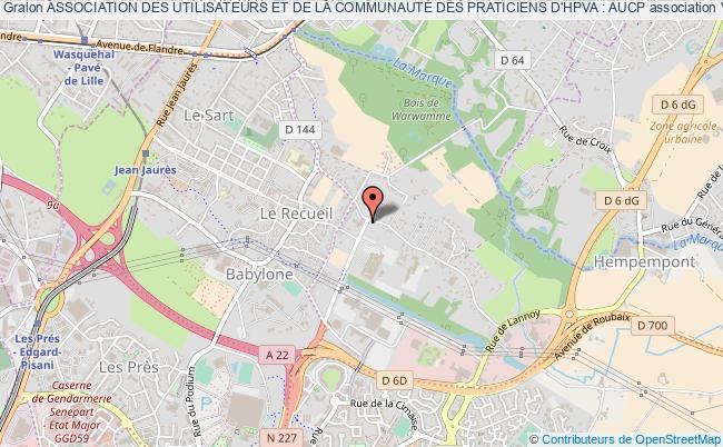 plan association Association Des Utilisateurs Et De La CommunautÉ Des Praticiens D'hpva : Aucp Villeneuve-d'Ascq