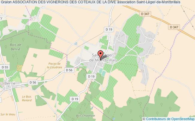 plan association Association Des Vignerons Des Coteaux De La Dive