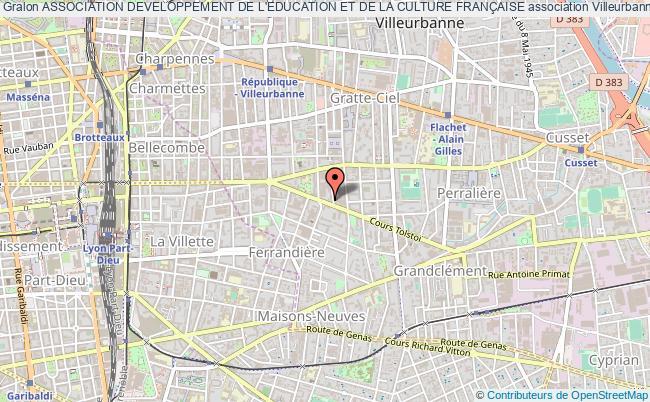 plan association Association Developpement De L'education Et De La Culture FranÇaise
