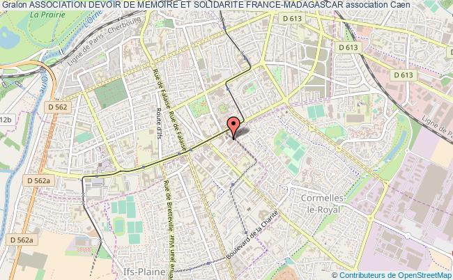 plan association Association Devoir De Memoire Et Solidarite France-madagascar Caen