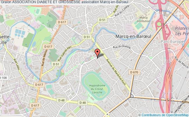 plan association Association Diabete Et Grossesse Marcq-en-Baroeul
