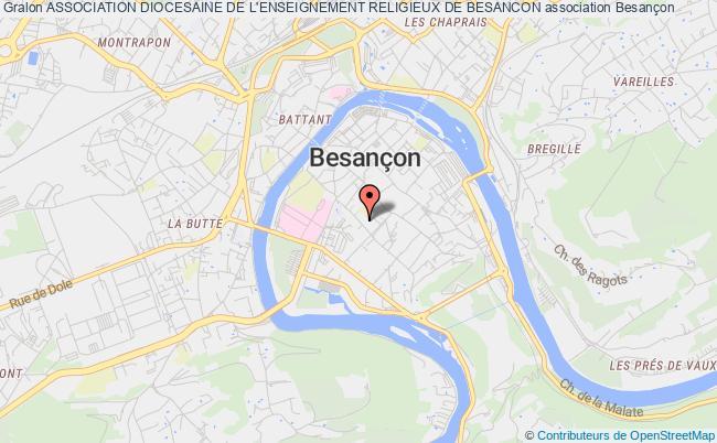 plan association Association Diocesaine De L'enseignement Religieux De Besancon