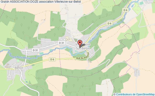plan association Association Doze Villeneuve-sur-Bellot