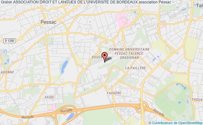Carte Universite De Bordeaux.Association Droit Et Langues De L Universite De Bordeaux Association