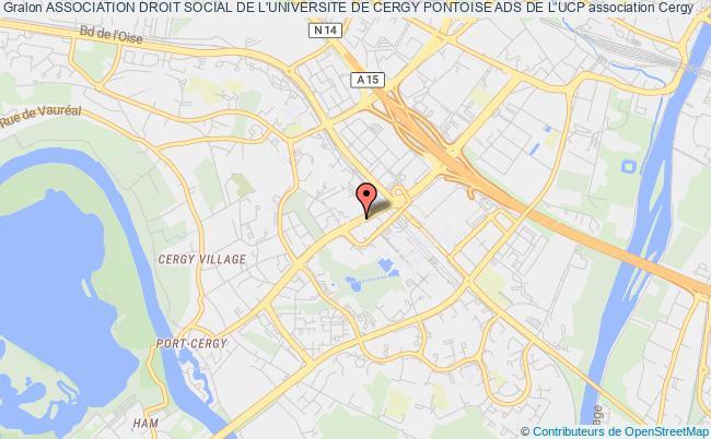 plan association Association Droit Social De L'universite De Cergy Pontoise Ads De L'ucp Cergy