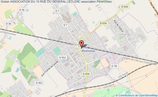 plan association Association Du 15 Rue Du General Leclerc Pérenchies