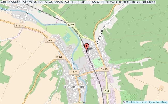 plan association Association Du Barsequanais Pour Le Don Du Sang Benevole