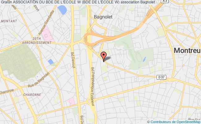 plan association Association Du Bde De L'École W (bde De L'École W)