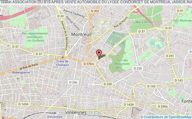 plan association Association Du Bts Apres Vente Automobile Du Lycee Condorcet De Montreuil (assos.ava-condorcet93)