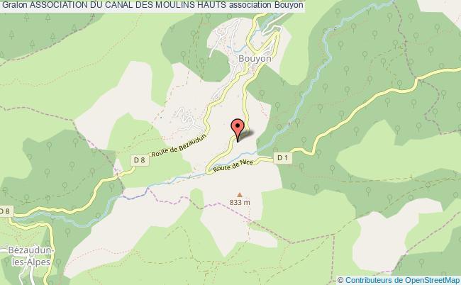 plan association Association Du Canal Des Moulins Hauts