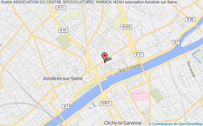 plan association Association Du Centre Socioculturel Yannick Noah Asnières-sur-Seine