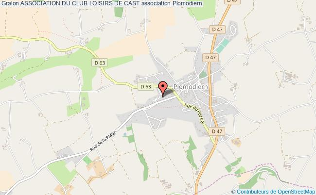 plan association Association Du Club Loisirs De Cast