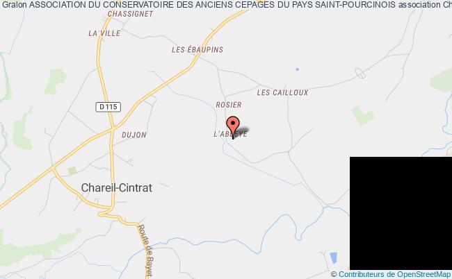 plan association Association Du Conservatoire Des Anciens Cepages Du Pays Saint-pourcinois Chareil-Cintrat