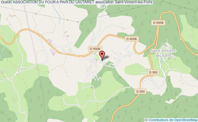 plan association Association Du Four A Pain Du Lautaret Saint-Vincent-les-Forts