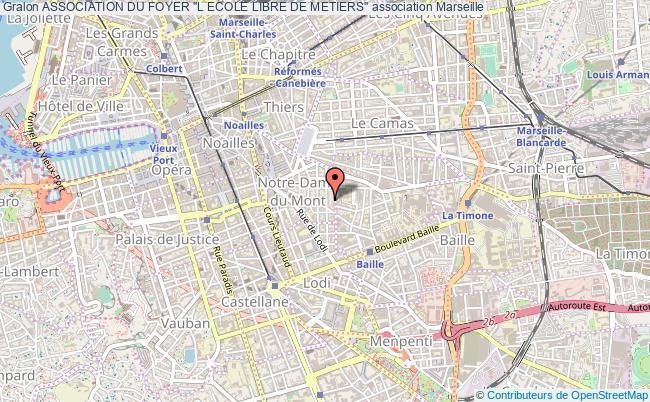 """plan association Association Du Foyer """"l Ecole Libre De Metiers"""" Marseille 6"""