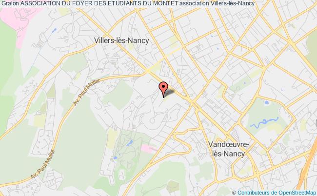 plan association Association Du Foyer Des Etudiants Du Montet