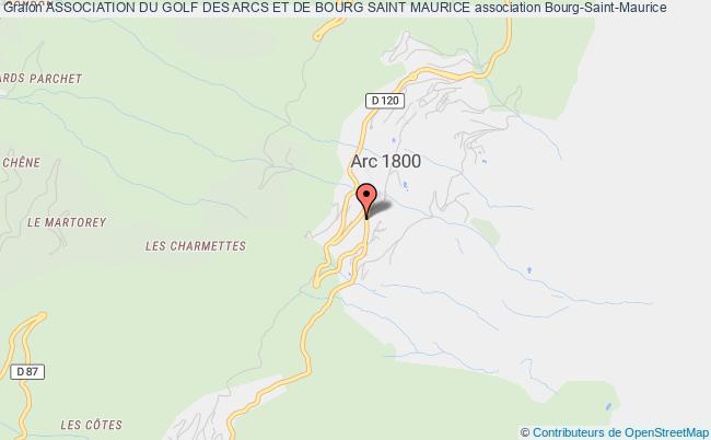 plan association Association Du Golf Des Arcs Et De Bourg Saint Maurice