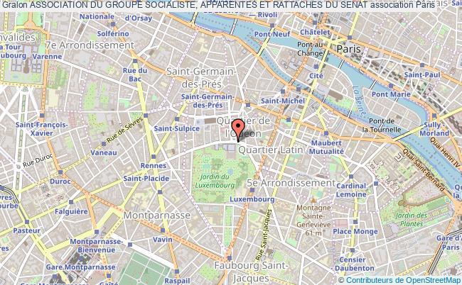 plan association Association Du Groupe Socialiste, Apparentes Et Rattaches Du Senat Paris