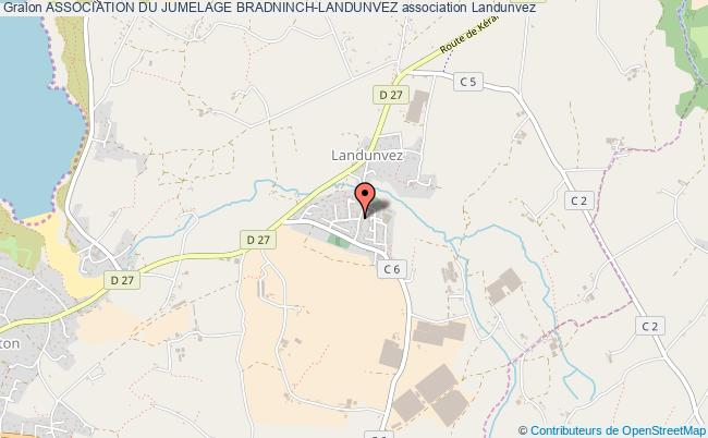 plan association Association Du Jumelage Bradninch-landunvez Landunvez