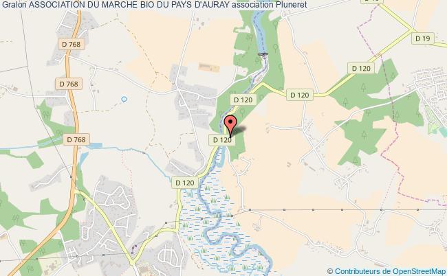 plan association Association Du Marche Bio Du Pays D'auray Pluneret