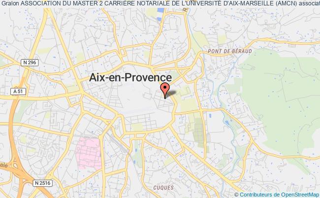 plan association Association Du Master 2 CarriÈre Notariale De L'universitÉ D'aix-marseille (amcn)