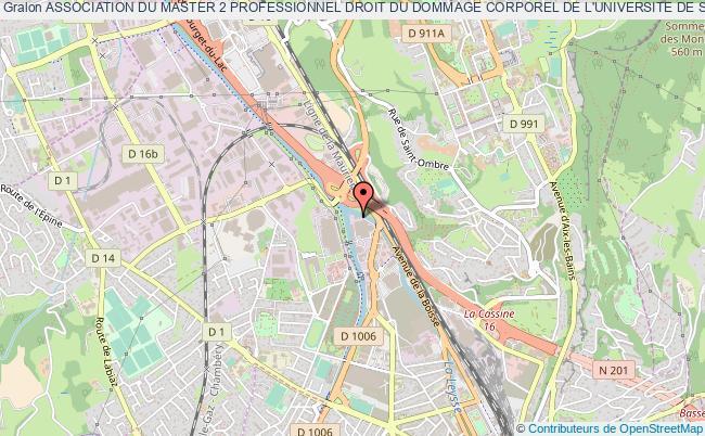 plan association Association Du Master 2 Professionnel Droit Du Dommage Corporel De L'universite De Savoie (chambery)