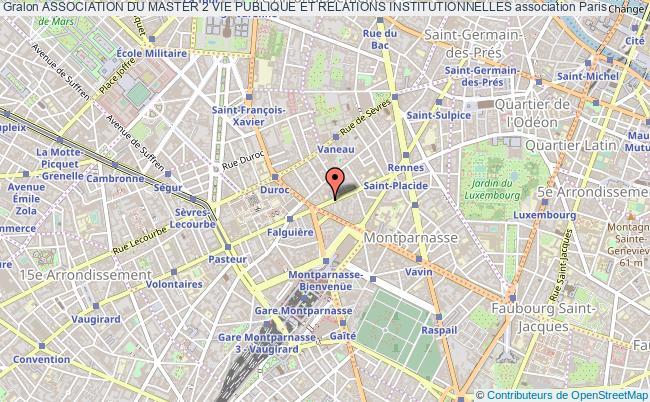 plan association Association Du Master 2 Vie Publique Et Relations Institutionnelles Paris