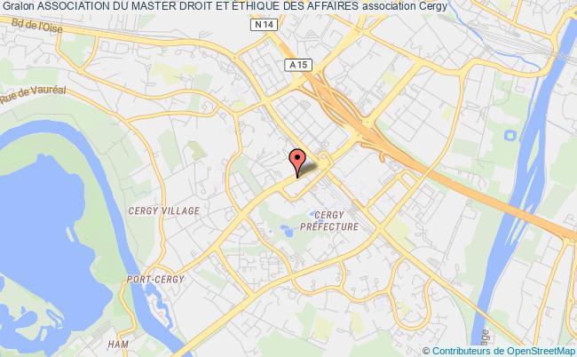 plan association Association Du Master Droit Et Ethique Des Affaires Cergy-Pontoise Cedex
