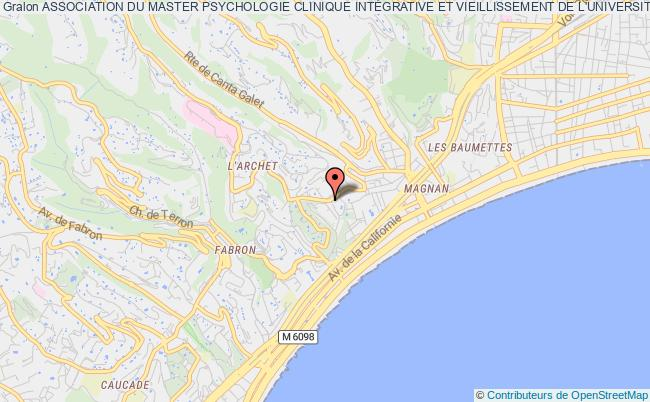 plan association Association Du Master Psychologie Clinique IntÉgrative Et Vieillissement De L'universitÉ CÔte D'azur Nice