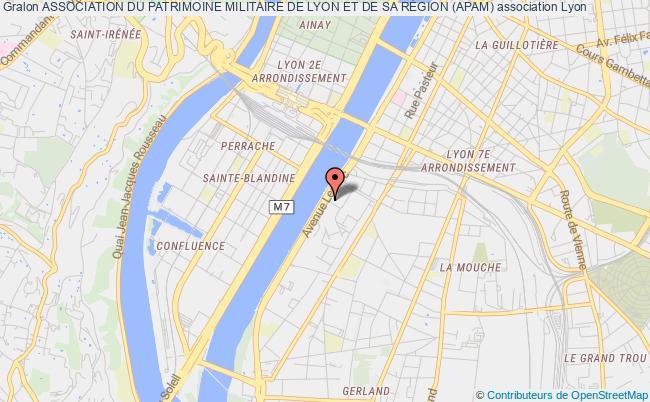 plan association Association Du Patrimoine Militaire De Lyon Et De Sa RÉgion (apam)