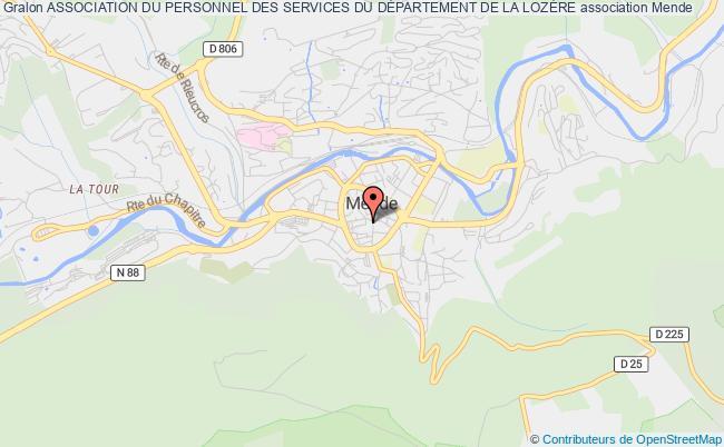 plan association Association Du Personnel Des Services Du DÉpartement De La LozÈre