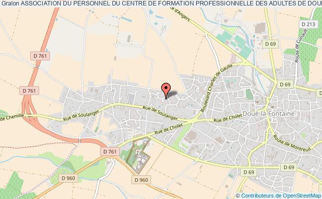 plan association Association Du Personnel Du Centre De Formation Professionnelle Des Adultes De DouÉ-la-fontaine Doué-en-Anjou