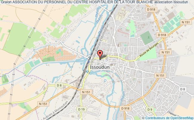 plan association Association Du Personnel Du Centre Hospitalier De La Tour Blanche Issoudun