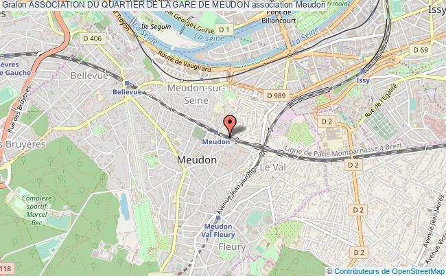 plan association Association Du Quartier De La Gare De Meudon