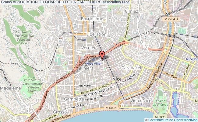 plan association Association Du Quartier De La Gare Thiers Nice