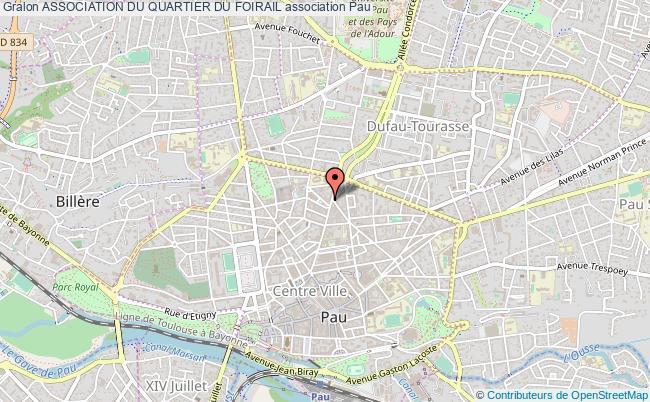 plan association Association Du Quartier Du Foirail