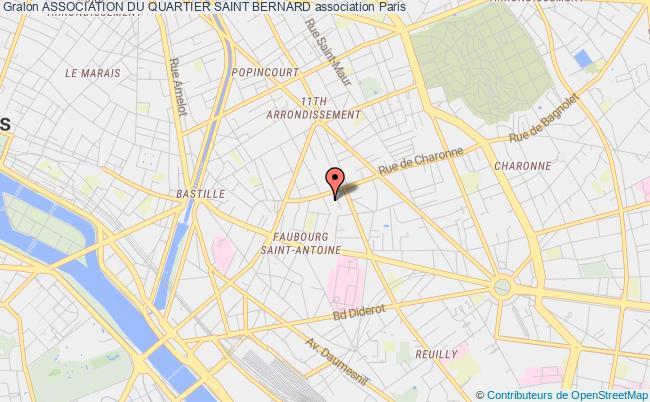 plan association Association Du Quartier Saint Bernard